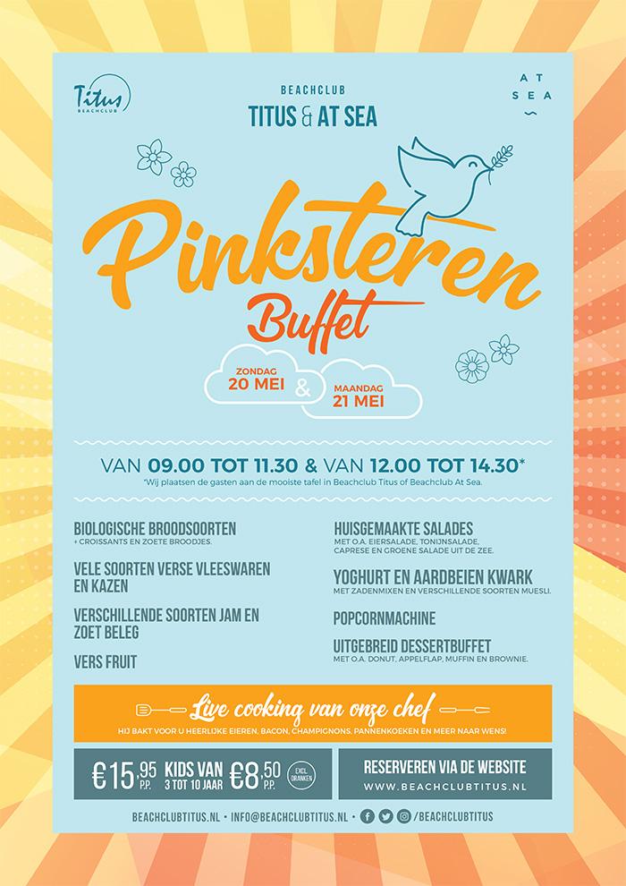 Pinksteren A3 Flyer Beachclub AtSea en Titus Grafisch Interaction Design Koenkist.com